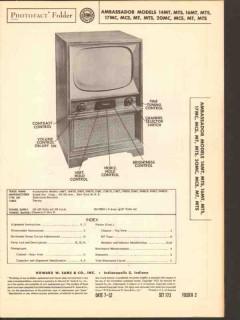 ambassador model 14m 16m 17m 20m series tv sams photofact manual