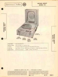 arthur ansley model tp-1 phono record player sams photofact manual