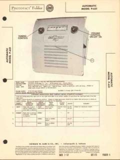 automatic model p-651 am car radio receiver sams photofact manual