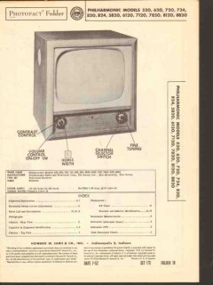 philharmonic models x20 xx20 television receiver sams photofact manual