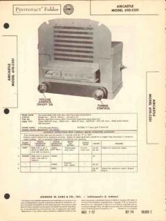 aircastle model 610c351 am car radio receiver sams photofact manual