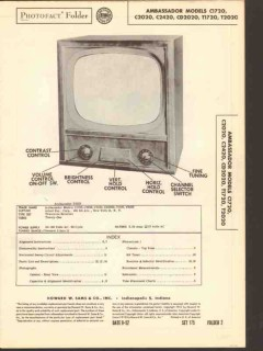 ambassador model cxx20 txx20 series television sams photofact manual