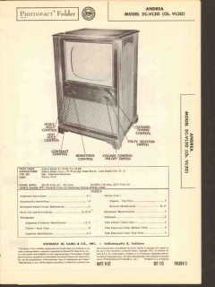 andrea model 2c-vl20 tv television receiver sams photofact manual