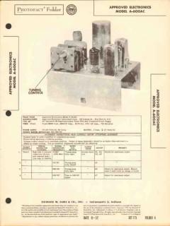 approved electronics model a600ac am radio sams photofact manual
