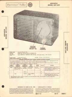 aircastle model 607.299 4 tube am radio receiver sams photofact manual