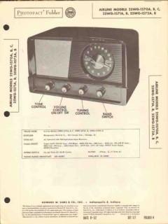 airline model 25wg-157xx series am fm radio sams photofact manual