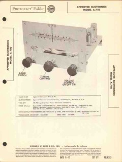 approved electronics model a-710 am fm radio sams photofact manual