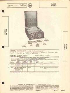 masco model rk-5slr am radio disc recorder unit sams photofact manual