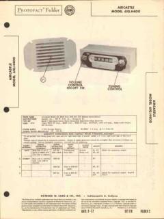 aircastle model 610.h400 am car radio receiver sams photofact manual