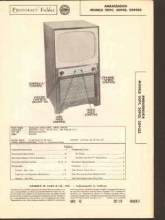 ambassador model 20pc 20pcs 20pcs2 tv television sams photofact manual