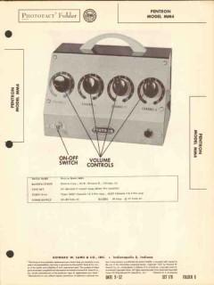 pentron model mm4 4ch audio mixer pre-amplifier sams photofact manual