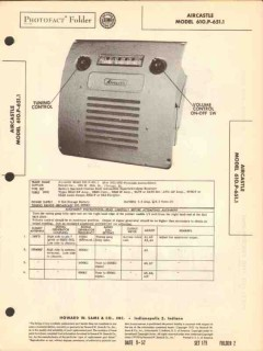 aircastle model 610.p-6511 am car radio receiver sams photofact manual