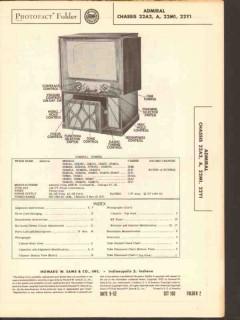 admiral chassis 22a2 a2a m1 y1 radio tv phono sams photofact manual