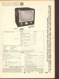 hoffman chassis 190 b 191 b 192 194 tv receiver sams photofact manual