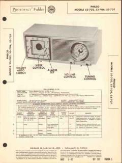 philco model 53-702 53-706 53-707 2band am radio sams photofact manual