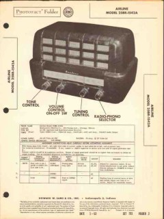 airline model 25br-1542a am radio receiver sams photofact manual