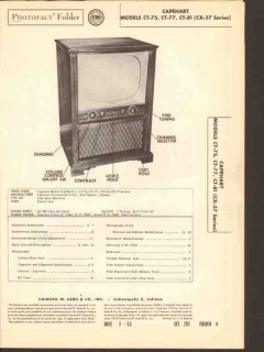 capehart model ct-75 ct-77 ct-81 tv television sams photofact manual