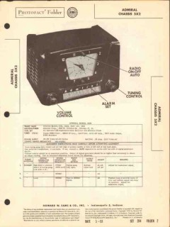 admiral model 5x2 am radio receiver clock sams photofact manual