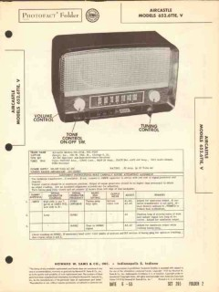aircastle model 652.6t1x am radio receiver sams photofact manual