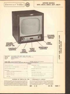 artone model arx1 arcx1 ard21 tv television sams photofact manual