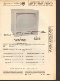 airline model 25wg306xx 25wg307xx tv television sams photofact manual