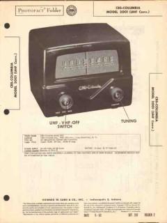 cbs-columbia model 2001 uhf converter sams photofact manual