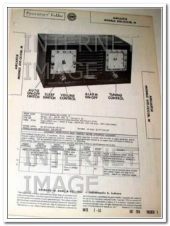 aircastle model 610.cl152x am radio clock sams photofact manual