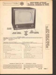 arvin model 6173tm 6213tx 6215cx tv television sams photofact manual