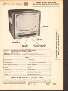 airline model 35br-3158 35br-316x tv television sams photofact manual