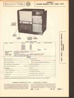admiral chassis 22f2 22m2 22p2 radio tv phono sams photofact manual