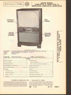airline model 35wg-317xx tv television receiver sams photofact manual