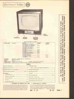aircastle chassis 317-x 321-x tv television sams photofact manual