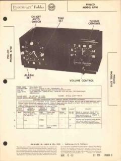 philco model b710 5 tube am radio receiver clock sams photofact manual