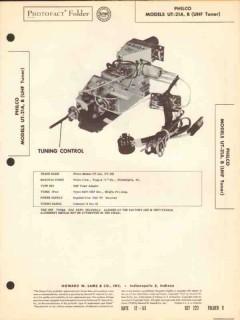 philco model ut-21a ut21b television uhf tuner sams photofact manual