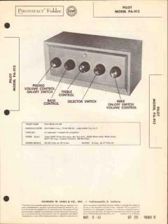 pilot model pa-912 7-channel audio pre-amplifier sams photofact manual