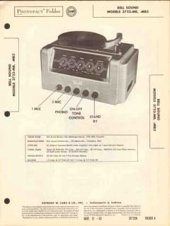 bell sound model 3723-mb audio amplifier phono sams photofact manual