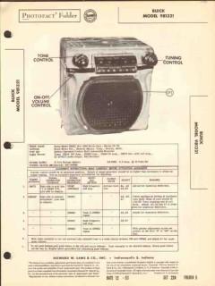 buick model 981321 7 tube am car radio receiver sams photofact manual