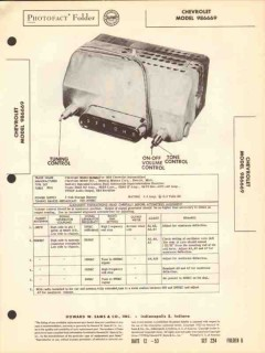 chevrolet model 986669 am car radio receiver sams photofact manual
