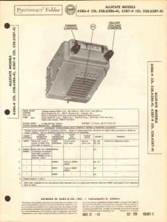 airline model 6286-4 6287-4 6 tube am car radio sams photofact manual