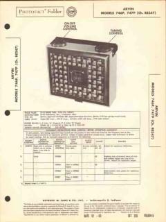 arvin model 746p 747p 4 tube am radio receiver sams photofact manual