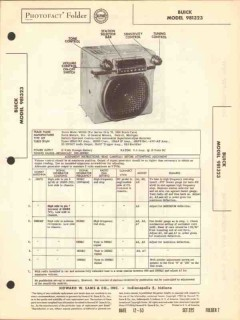 buick model 981323 8 tube am car radio receiver sams photofact manual