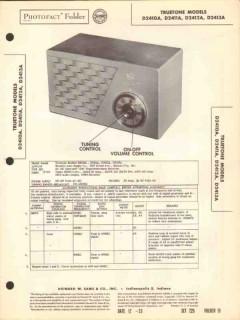 truetone model d241xa 5 tube am radio receiver sams photofact manual