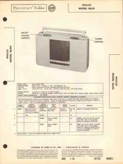 philco model b650 4 tube am radio receiver sams photofact manual