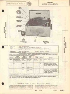 airline model 35gaa-3969 am radio disc recorder sams photofact manual