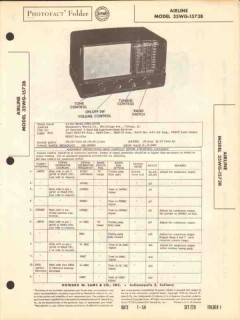 airline model 35wg-1573b am sw radio receiver sams photofact manual