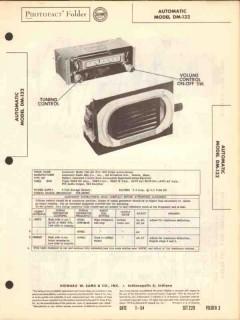 automatic model dm-132 am car radio receiver sams photofact manual