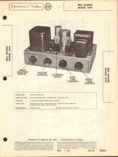 bell sound model 2199 12 watt audio amplifier sams photofact manual