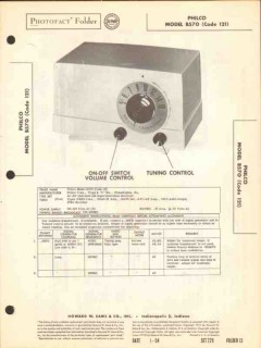 philco model b570 5 tube am radio receiver sams photofact manual
