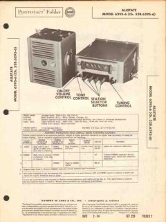 allstate model 6295-6 am car radio receiver sams photofact manual