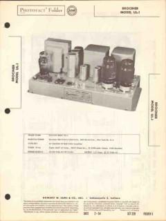 brociner model ul-1 50 watt audio amplifier sams photofact manual